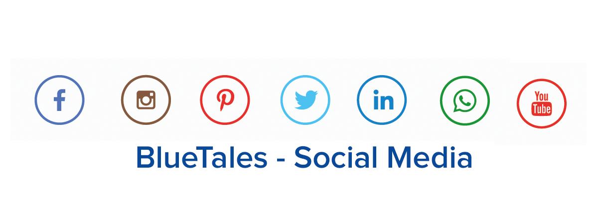 bluetales sociale media